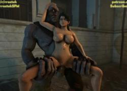 '3D Cyclop Monster ебля Момиджи хардкор Анимация'
