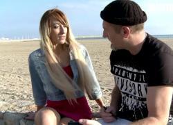 AmateurEuro тощая французская молоденькая попка оттрахана до кульминации на пляже