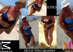 'Бабушка-толстушка и милфа в бикини с большой грудью покрывают обложки для галерей'