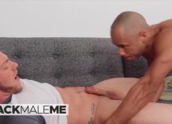 'BlackMaleMe - межрасовый грубый гей-трах с красотками, Brock и Chris'