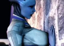 'Blue Star Episode Лесбийский секс Mass Effect 3D мультфильм'