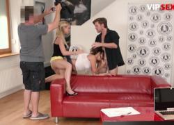 ExposedCasting Кэтти Хилл, Чешская сучка с большой задницей жестко трахается в киску на горячем трехходовом прослушивании