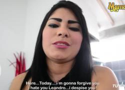 Горячая латина MamacitaZ получает сперму на лицо на ее SEX TAPE