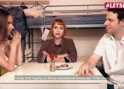 'HornyHostel, Русская с маленькими сиськами Jessica Portman устроила бойфренду куколду хорошее шоу LETSDOEIT'