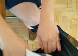 Камминг на школьных носках во время перемены Shoefuck и sockjob