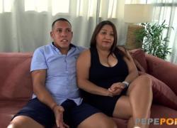 Латинская жена с большими сиськами обожает, когда нас пробурили, чтобы мы могли увидеть