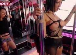 LETSDOEIT Горячая мамаша Дебора Даймонд получает странные пытки в автобусе вечеринки