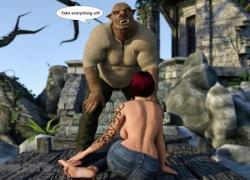 'Pig Monster трахает грудастую 3D рыжую мамочку'