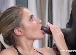 Private com представляет женское белье красоты Mary Kalisy трахает большой черный петух