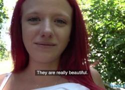 'Публичный агент Сексуальная рыжая Тиффани Лав трахнута в тени'