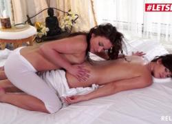 Расслабленная чешская тинка Nicky Sweet, чувственный лесбийский секс на массаже LETSDOEIT