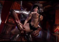 Скайрим-героиня-волшебница, которая становится секс-рабыней монстров. Эпизод 2.