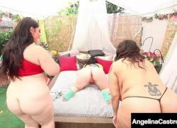Соблазнительная кубинка Angelina Castro трахает свою Phat Pussy двумя большими друзьями