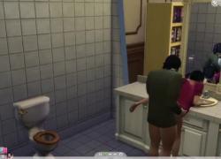 Трахаю библиотекаря в общественном туалете Sims 4